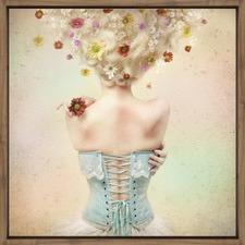 Girl of the Flower Garden Wall Art