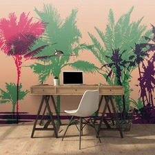 Retro Palms Right Wall Mural
