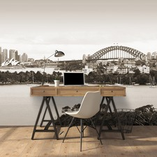Sydney Afternoon Sepia Wall Mural
