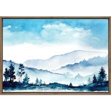 Watercolour Woods Printed Wall Art