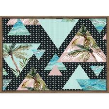 Angled Palms Printed Wall Art