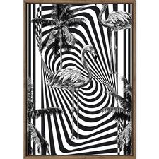 Monochrome Flamingo Printed Wall Art