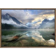 Misty Mountain Lake Printed Wall Art