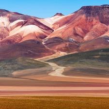 Seven Colours Mountain Canvas Wall Art