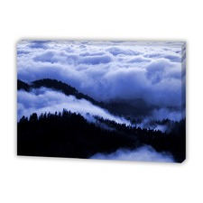 Blue Clouds Canvas Wall Art