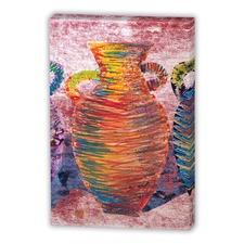 Orange Navaho Urn 1 Canvas Wall Art
