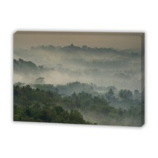 Temple in the Mist Canvas Wall Art
