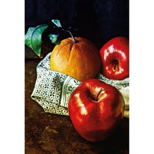 Orange & Apples Canvas Wall Art