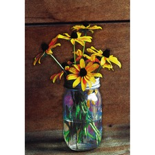 Sunflower Vase Canvas Wall Art