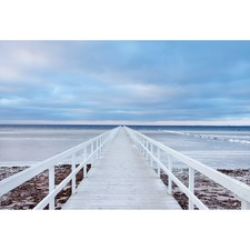 The Jetty Canvas Wall Art by Jacek Oleksinski