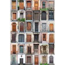 Vintage Door Collage Canvas