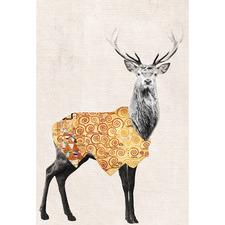 Golden Deer Canvas