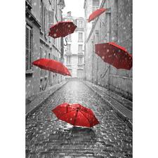 Raining Umbrellas Canvas