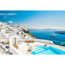 Santorini Heaven Canvas Wall Art