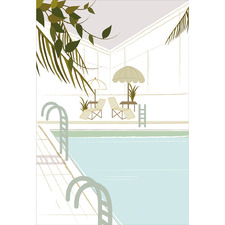 Indoor Pool Concept Canvas Wall Art