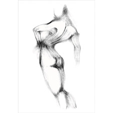 Nude Silhouette Illustration Canvas Wall Art