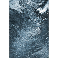 Mono Blue Moonlight Ripple Canvas Wall Art