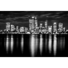 Perth Skyline II Canvas Wall Art
