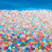 Happy Fields Canvas Wall Art by Helen Joynson