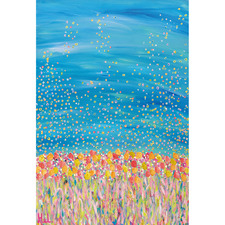 Floral Freedom Canvas Wall Art by Helen Joynson