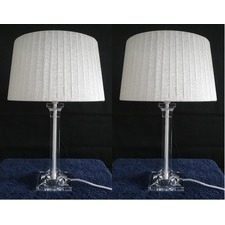 Laura Tapered Drum Table Lamp (Set of 2)