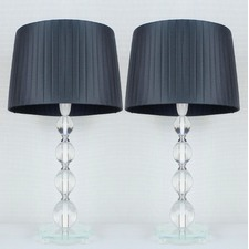 Iris Ribbon Shade Table Lamp (Set of 2)