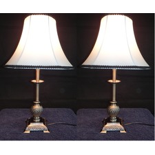 Lily Table Lamp With Black Rim (Set of 2)