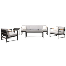 5 Seater Monaco Metal & Ceramic Outdoor Sofa Set