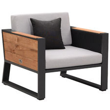 St. Lucia Aluminium & Teak Outdoor Armchair