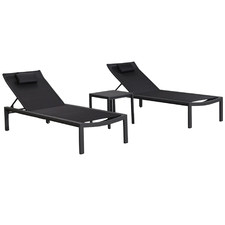 2 Seater Florida Aluminium Sun Lounge Set