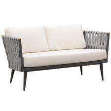 Crown Aluminium & Fabric Outdoor Loveseat