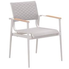 White California Aluminium Outdoor Dining Chair