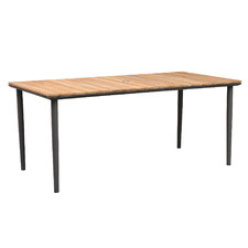 Aurelius Teak-Top Outdoor Dining Table