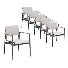 Aurelius Aluminium Outdoor Dining Chairs (Set of 6)