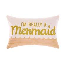 Im Really A Mermaid Printed Cotton Cushion