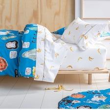Monkey Business Cotton Quilt Cover Set