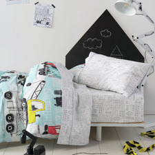 Grey Dusty Cotton Sheet Set
