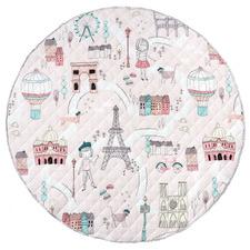 Pink I Dream Of Paris Cotton Play Mat