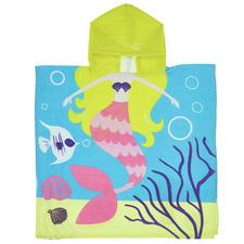 Kids' Maisy Mermaid Hooded Cotton Beach Towel