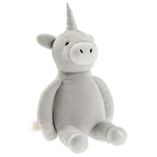Grey Magical Unicorn Novelty Cushion