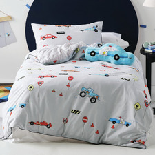 Grey Back Street Bandits Cotton Quilt Cover Set
