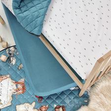 White & Grey World Voyager Cotton Sheet Set
