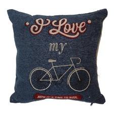 I Love My Bike Jacquard Cushion 45x45cm