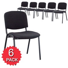 Set of 6 Stackable Office Chairs
