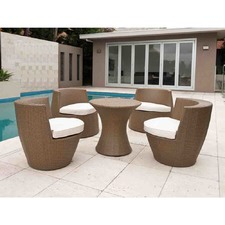 5 Piece Tower Outdoor Stacking Furniture Set