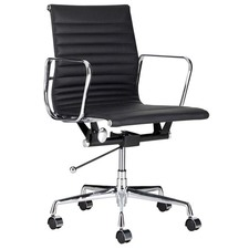 Eames Leather Replica Management Office Chair