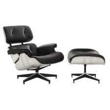Eames Replica Aluminium Lounge Chair & Ottoman