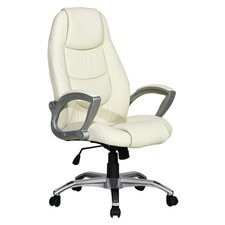 High Back Cream Executive Office Chair
