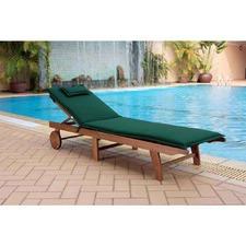 Monaco Wheeled Outdoor Hardwood Sunlounger