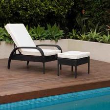 Chelsea PE Rattan Wicker Lounge Chair & Ottoman